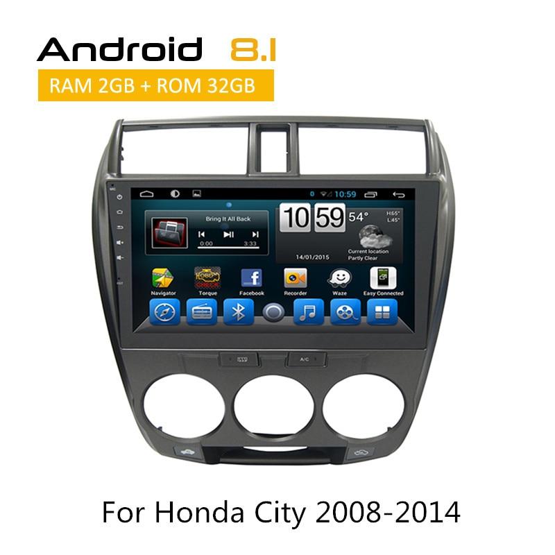 2 Din стерео Мультимедиа Системы для Honda City 2008 2009 2010 2011 2012 2013 2014 gps навигация авто радио Carplay YouTube