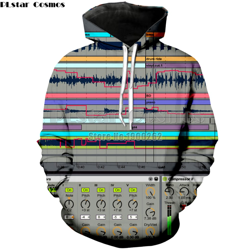 PLstar Cosmos Ableton live Brand Popular Hoodies Sweatshirt Mens/women Long Sleeve3d Print Plus size S-5XL
