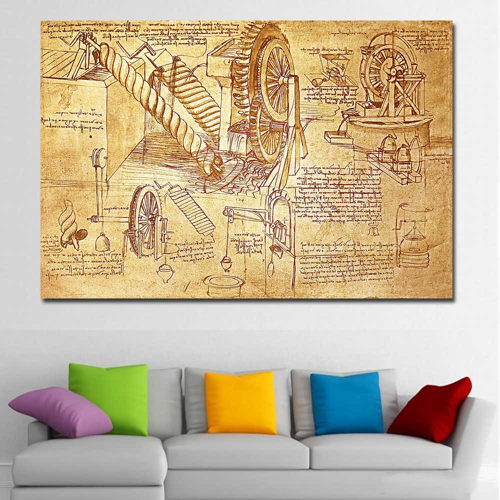 Invention DaVinci Letter Abstract oil Painting Drawing art Spray ...