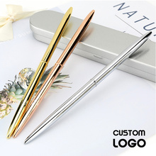 1pc Metal 0.7mm Personality Ball Pen Hotel Counter Sign Single Pen Gel Pens Business Gift School Office Laser Customization Logo