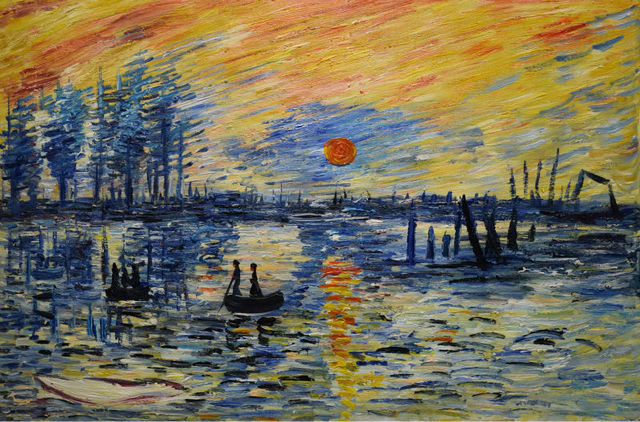 Handpainted Impressionism Claude Monet Oil Painting On