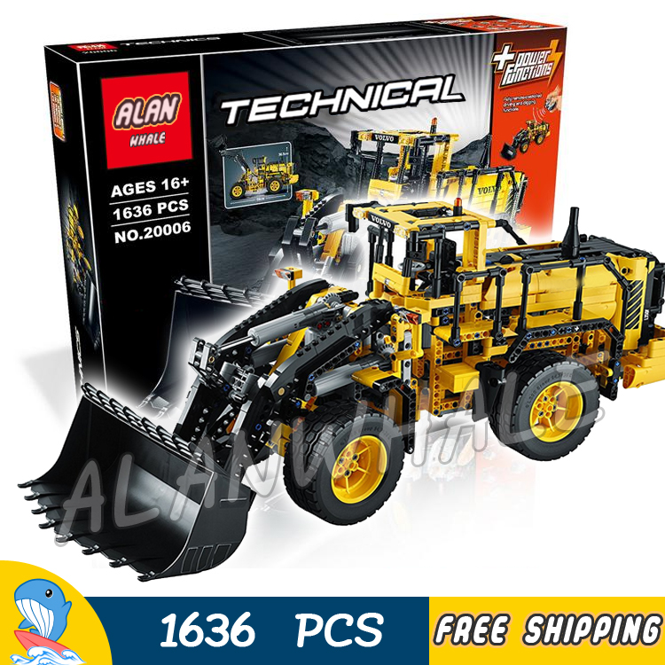 1636pcs 2in1 Techinic Remote Controlled Volvo L350F Wheel Loader 20006 DIY Model Building Blocks Toy Bricks Compatible With lego 1636pcs 2in1 techinic remote controlled