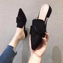 High Heesl Slippers Women Shoes Woman Pointed Toe Ladies Female Slides Platform Slippers Summer Fashion Mules Shoes For Women