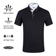 EAGEGOF Мужская рубашка поло с коротким рукавом для гольфа, быстросохнущая одежда для гольфа, Мужская дышащая Спортивная одежда для гольфа, одежда для тренировок