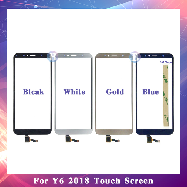 "High Quality 5.7"" For Huawei Y6 2018 / Y6 Prime 2018 Touch Screen Digitizer Sensor Outer Glass Lens Panel Replacement"