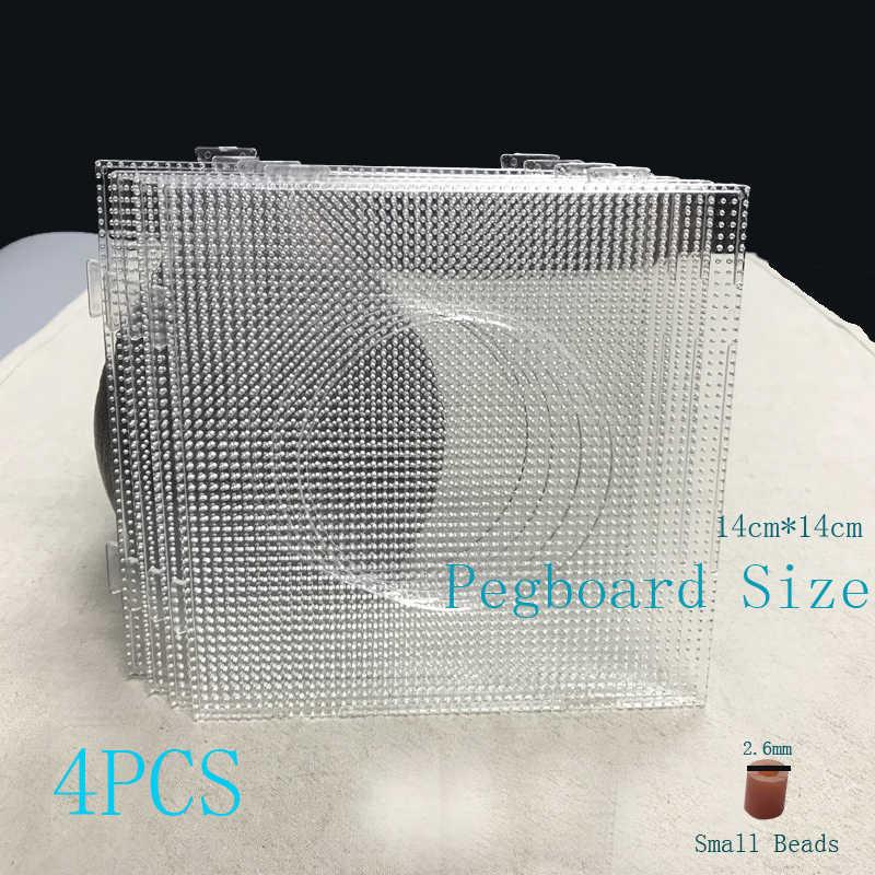 2.6 مللي متر البسيطة حماة الخرز مربع Pegboards 4 قطعة كبيرة حجم الخرز قالب المواد لصنع الرسوم الحديد الخرز لوحات 14 سنتيمتر * 14 سنتيمتر