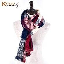 KentoCandy 2016 luxury Brand Top quality plaid women winter scarf tartan tassel warmer scarves yellow