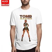 Tomb Raider T shirt Tee Men Fashionable O-neck Free Shipping Tshirt Movie t Birthday GIft Tees Casual 100% Cotton