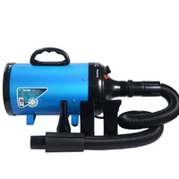 Pet Water Blower Professional Dog Grooming Hair Dryer High Power Ultra quiet Golden Retriever Large Dog Bathing Hair Dryer Blue
