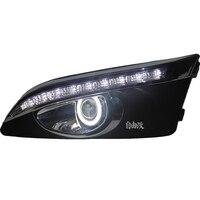 Eosuns инновационные удара глаза ангела + LED дневного света DRL + противотуманная галоген с объектив проектора для Шевроле Авео Sonic