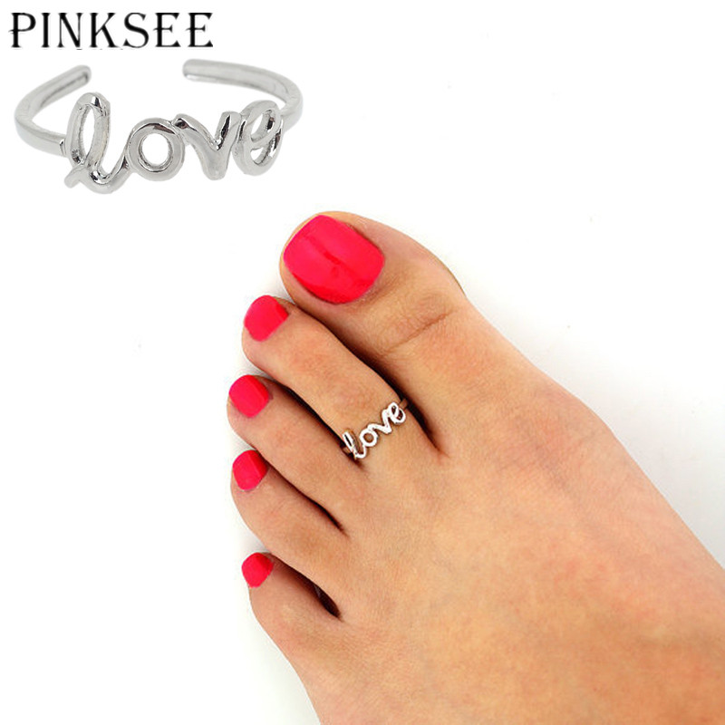 Adjustable Love Toe Ring Sterling Silver 925 Best Price Beach Jewelry Gift