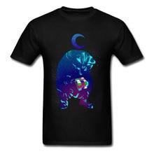 Прочный Шарм Рубикс Куб кот Новинка дизайнерская Спортивная футболка для мужчин Вселенная синие Черные футболки Geek шикарный Милый хип хоп