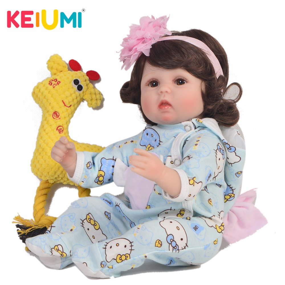 KEIUMI New Design 17 Baby Reborn Girl Realistic Princess 43 cm Curved Hair Silicone Reborn Baby Dolls For Kids Christmas Gift KEIUMI New Design 17 Baby Reborn Girl Realistic Princess 43 cm Curved Hair Silicone Reborn Baby Dolls For Kids Christmas Gift