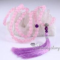 Mala бисер оптом 108 медитации бисер мала ожерелье из бисера духовной ювелирных изделий Yoga ювелирные изделия оптом