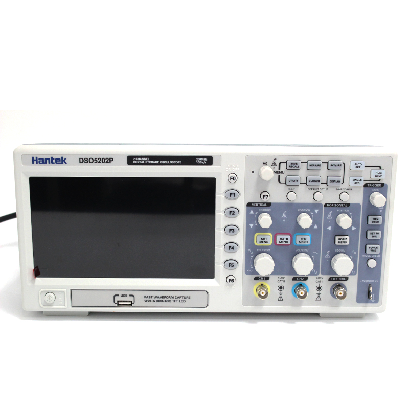 Osciloscopio Hantek DSO5202P Digital Oscilloscope USB 200MHz bandwidth 2 Channels 1GSs PC Storage LCD Record length up to 24K (6)