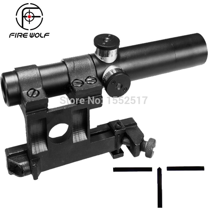 Multlcoated Lenses 3.5X Shockproof Multi-coated SVT-40 Mosin Nagant Rifle Scope Red Dot Hunting Riflescope ampeg svt 610hlf