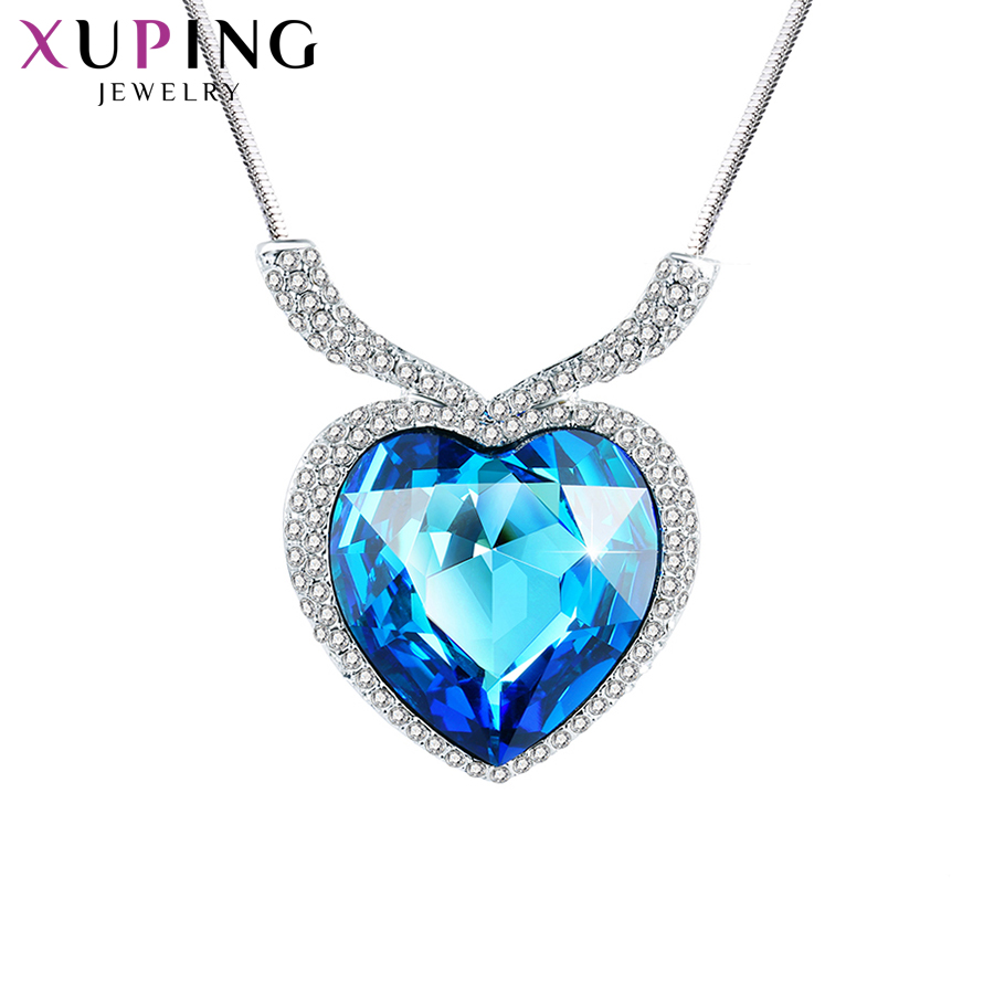 Xuping Fashion Pendant Necklaces Luxury Crystals from Swarovski High Quality Pendant Hot Sell for Women Gift M67-40154Xuping Fashion Pendant Necklaces Luxury Crystals from Swarovski High Quality Pendant Hot Sell for Women Gift M67-40154