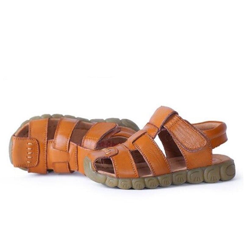 Children Sandals Hook & Loop Genuine leather Sandals Boys Girls Summer shoes 018