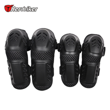 HEROBIKER Motorcycle MTB BMX DH Bike Skating Skateboard Elbow Pads + Knee Pads Set Guard Extreme Sport Protective Gear Protector destroyer pro elbow xl purple skateboard pads