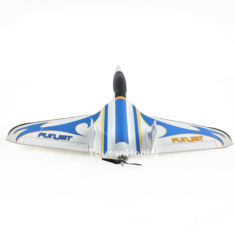 hsd blue fun jet 3s 20a esc rc pnp arf delta wing plane model w motor servos in rc airplanes. Black Bedroom Furniture Sets. Home Design Ideas