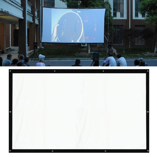 Projector Screen 180 Inches 16 9 Office Bussiness School Projection Equipment Beam Smart Hdmi Film