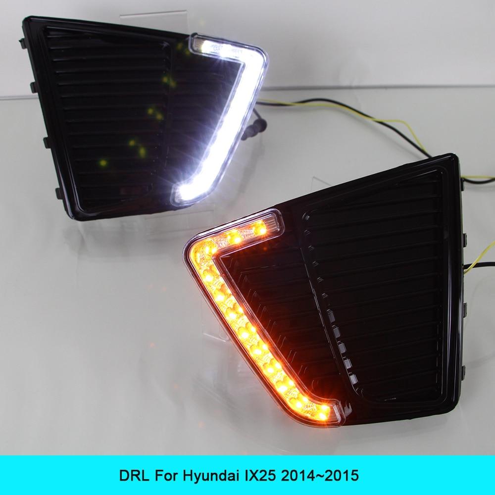 ДХО автомобильный комплект для Hyundai IX25 2014 2015 светодиодные дневные ходовые свет
