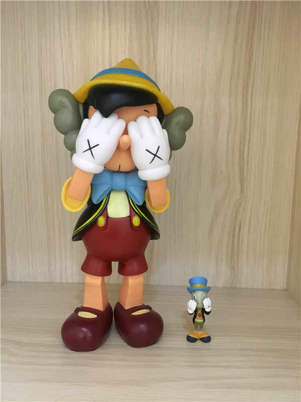 e8dd78a4 ... 10inch 26cm standing 8inch sitting Pinocchio Puppet medicom action  figures toy for children KAWS Dissected companion ...