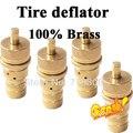 4 SETS FRETE GRÁTIS de Alta Qualidade 100% Material de Bronze Ajustável Kit Deflator Pneu 4x4 Pneu Deflator Off Road acessórios