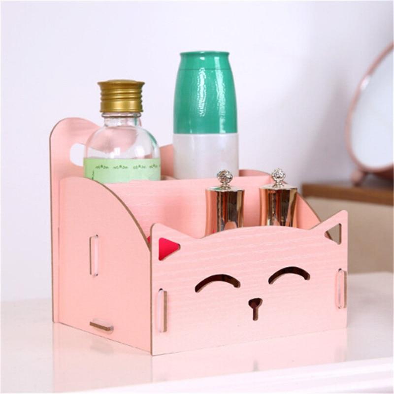 Cute Cat DIY Wooden Storage Box For Jewelry Organizer ...