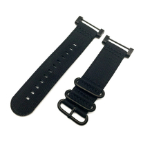 Black Black Ring For Suunto Core Series Traverse Watch Band Strap Nylon Zulu Watchband 24MM And Adapters And 2Pcs Screwdriver