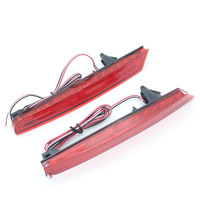 Dongzhen Red Rear Bumper Reflectors Light Brake Parking Warning Night Runing Tail Lamps LED Fit For
