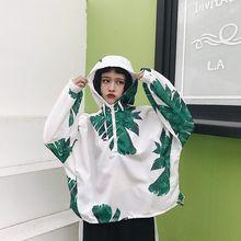 Демисезонный Для женщин тонкий Худи Harajuku печати молнии планка с рукавами «летучая мышь» Женские Кофты Свободные