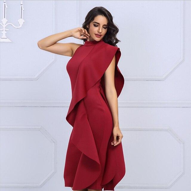 447ed47e56653 Acheter Fannic été blanc femmes célébrité robe de soirée Sexy vin ...