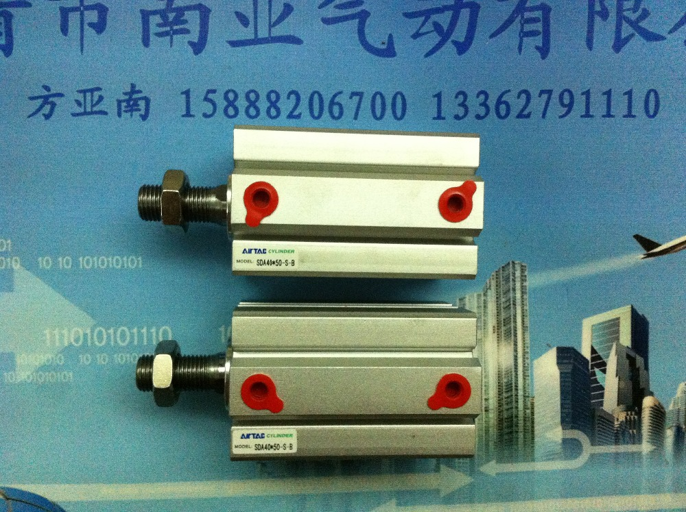 SDA40*50-S-B AIRTAC air cylinder pneumatic component air tools SDA series su50 400 s airtac thin three axis cylinder with rod air cylinder pneumatic component air tools