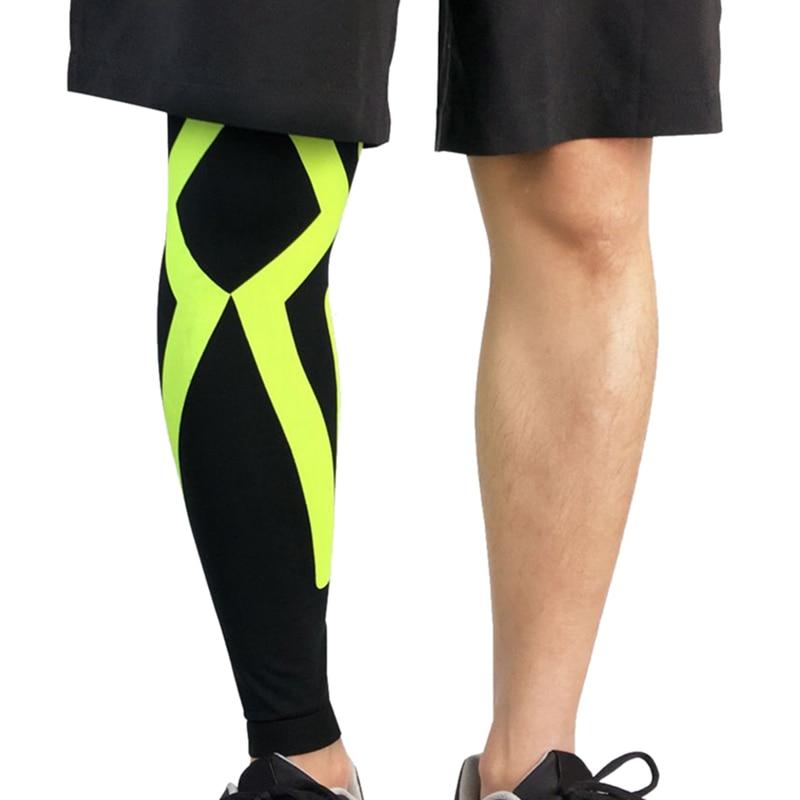 1Pcs Sports Knee Protector Calf Support Compression Leg Sleeve Leg Brace Outdoor Running Sports Basketball Football Riding Gear
