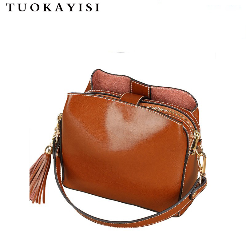 Cowhide leather Bag Woman 2018Female Messenger Bags Ladies Genuine Leather Shoulder Bag Luxury Handbags Women Bags Designer Tote laorentou cowhide leather shoulder bag ladies leather luxury handbags women bags designer ladies shoulder bag casual tote