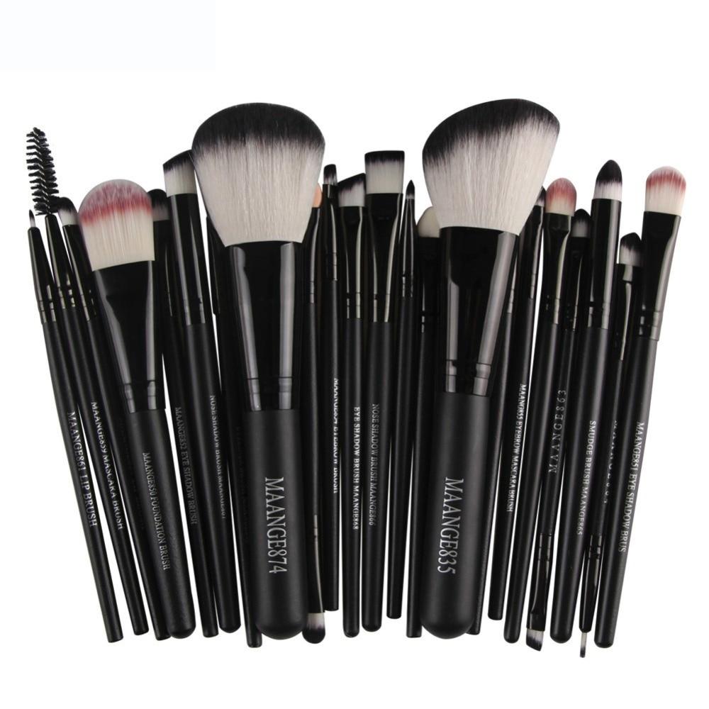 MAANGE 22pcs Cosmetic Makeup Brushes Blusher Eye Shadow Brushes Set Kit pinceles de maquillaje maquiagem Make-up Brush JU283 лосьон ga de soothing eye make up remover