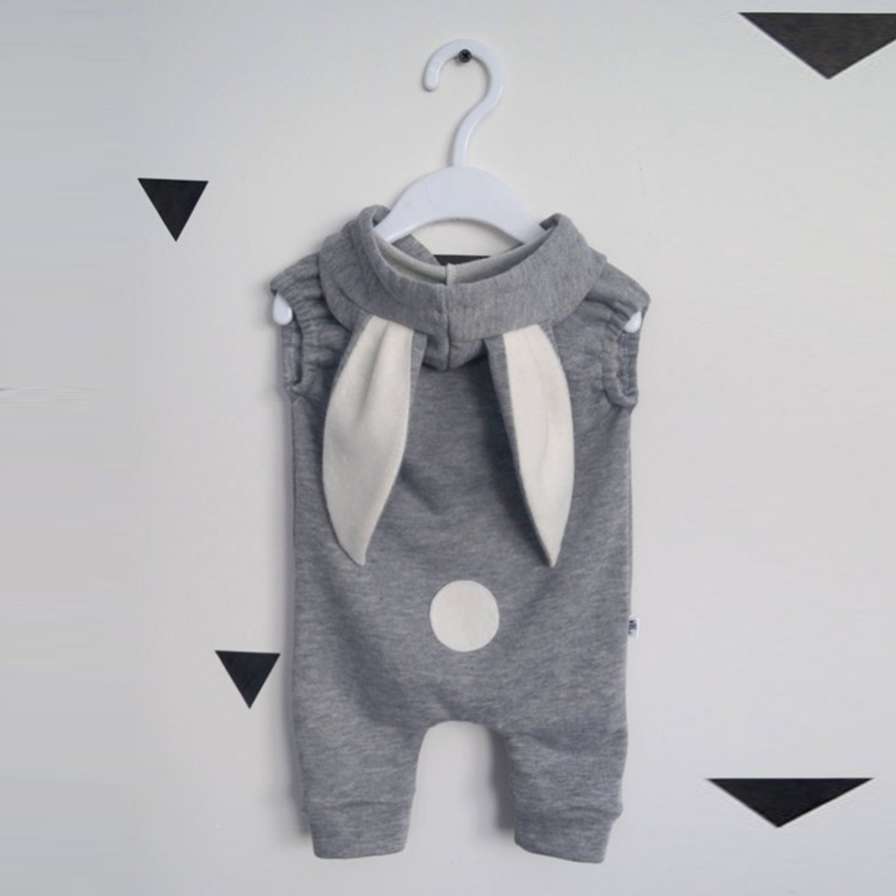 2018 Newborn Infant Baby Girl Boy Clothes Cute 3D Bunny Ear Romper Jumpsuit Playsuit Bebies Rompers One Piece infant baby girls boys denim romper jumpsuit one piece clothes playsuit newborn kids boy girl long sleeve rompers clothing