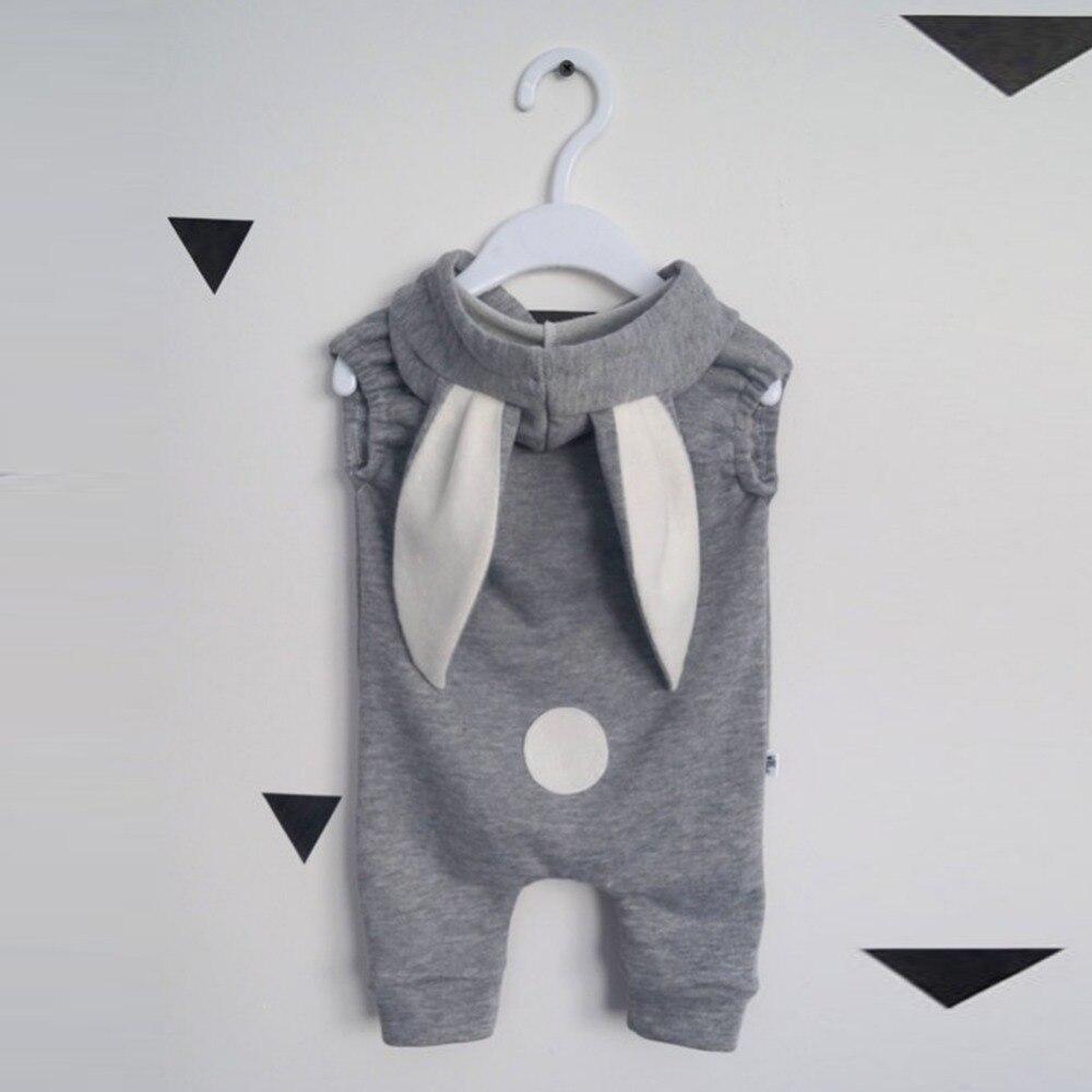 2018 Newborn Infant Baby Girl Boy Clothes Cute 3D Bunny Ear Romper Jumpsuit Playsuit Bebies Rompers One Piece