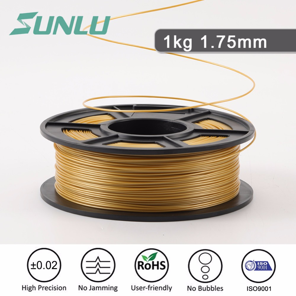 SUNLU 3D Printer Filament PLA 1.75mm 1KG/Roll Eco friendly Filament Extruder No Bubble Best 3D Printer Polylactic Acid Filament