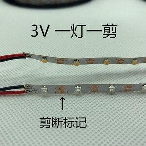 Image 5 - LED strip light 3V no resistance LED strip light 5MM 60pcs/Meter No waterproof 3V 3528 strip light cut by one pcs 3V Battery LED