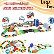 City Bridge Deluxe Flex Race Track Create A Road OVER 192 288 Pcs Flexible Toy Track