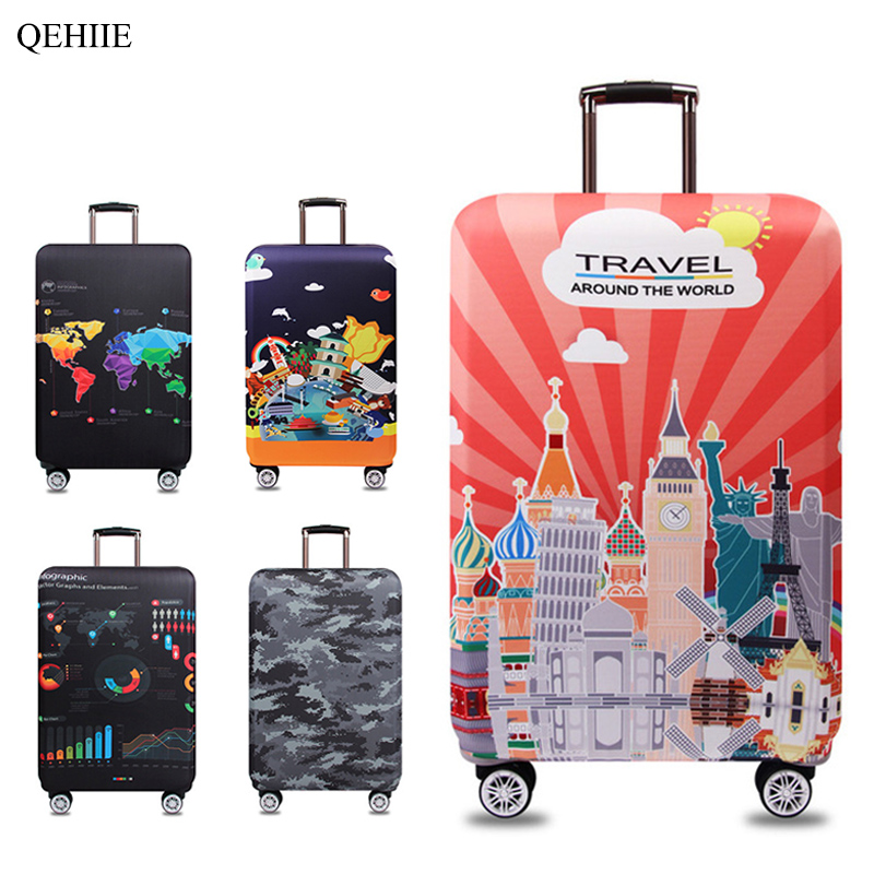 цены 2018 new elastic protective sleeve brand designer fashion suitcase suitcase protective cover organizer Travel Accessories