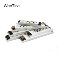 12 вольт блок питания ультра тонкий AC 220 V к DC 12 V светодиодный Dirver 60 W 100 W 120 W 150 W 200 W 300 W тонкий импульсный трансформатор освещения