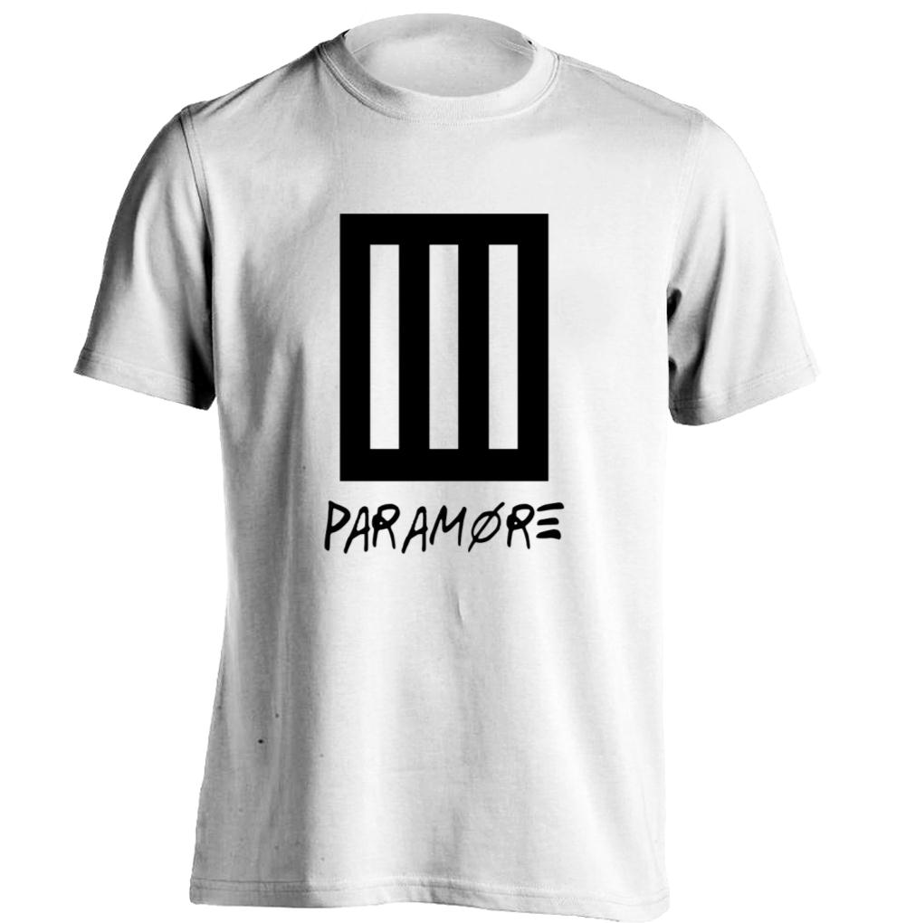 Black t shirt online design - Bars Punk Rock Music Band Paramore Mens Womens Printing T Shirt Design T Shirt