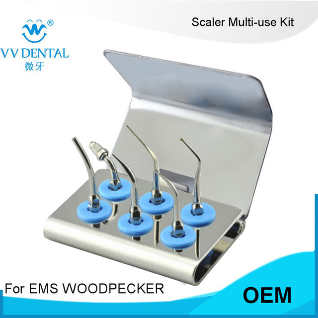 1 set SMUKS scaler multi-use kit FITSatelec perfect margin veneers kit  Retro Set and WOODPECKER DTE D7