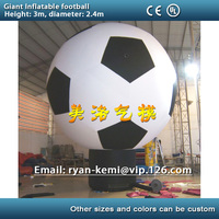 Free shipping giant inflatable football model large inflatable soccer balloon for football game advertising