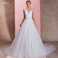 RSW1463 Иллюзия плечевые ремни v образный вырез халат Mariee Princesse свадебное платье