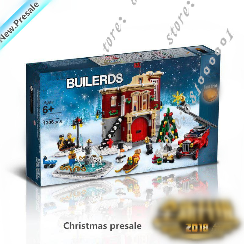 City Series Creator Expert Winter Toy Shop Building Blocks Bricks Compatible legoingly 10249 Model Building Toys Christmas gifts 1681pcs assembly blocks burj khalifa tower model toy diamond bricks kids gifts birthday present compatible creator 16 16 45cm
