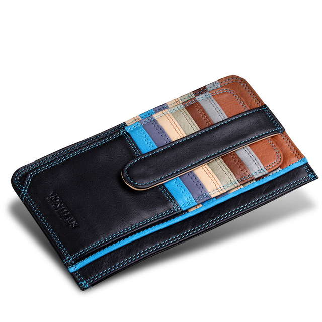 72bd561592e8b Free Shipping 2017 Luxury Credit Card Holder Leather Strap Buckle Bank Card  Purse Card Case ID Holders Business Card Wallets